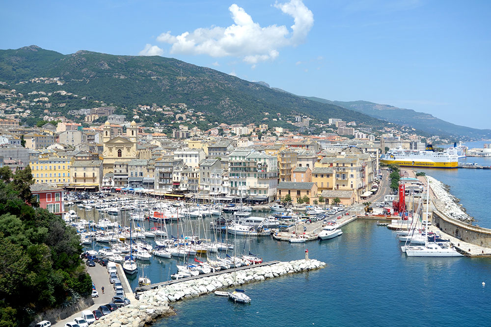 The view from Hotel des Gouverneurs in Bastia