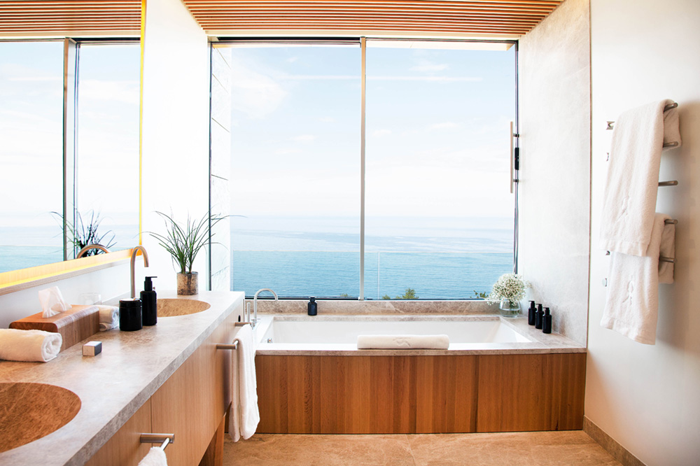 Deluxe Sea View bath at Akelarre in San Sebastián, Spain