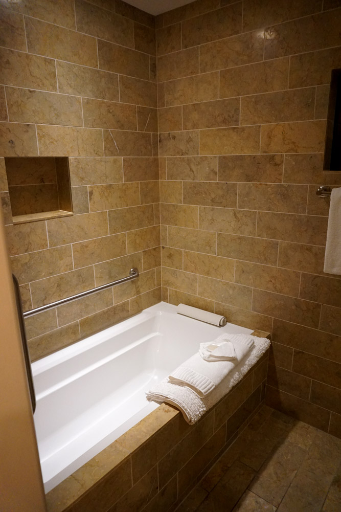 The bath of our Casita Guest Room at Enchantment Resort