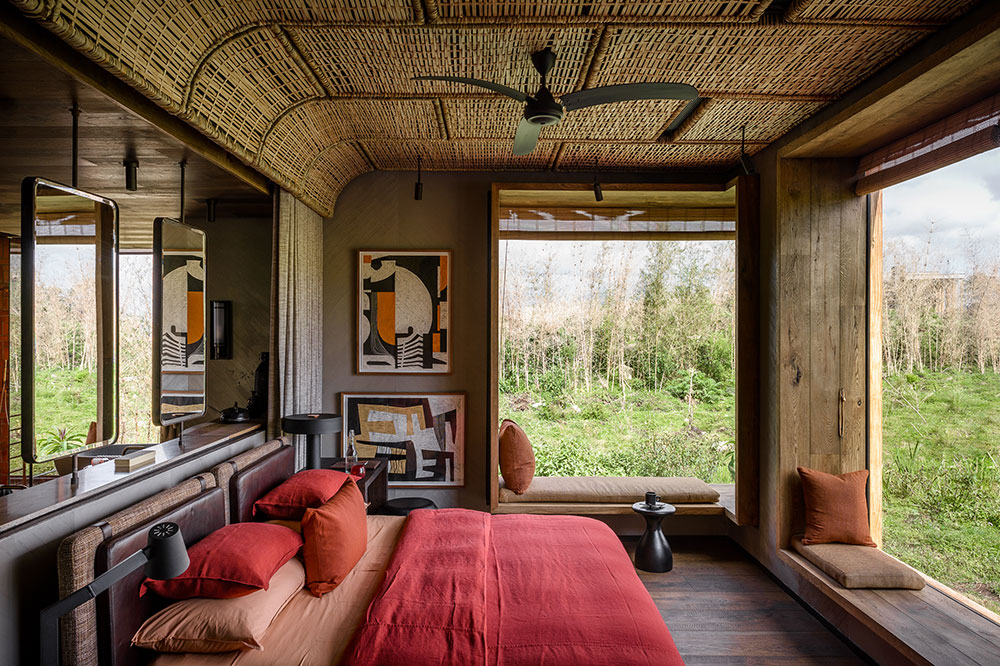 A bedroom at Singita Kwitonda Lodge