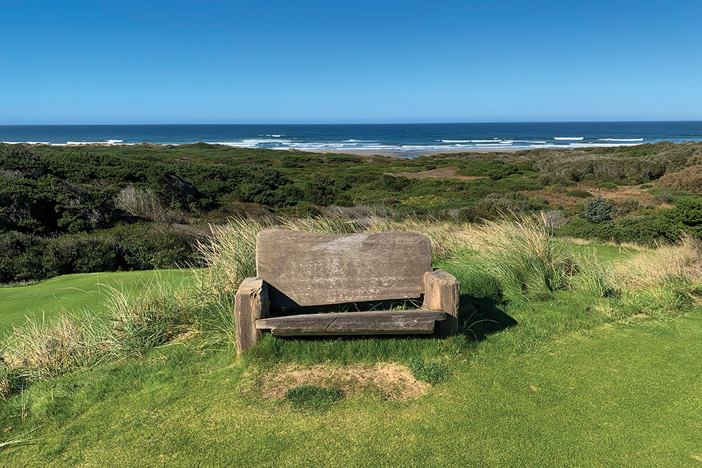 Bench on the Bandon Preserve course