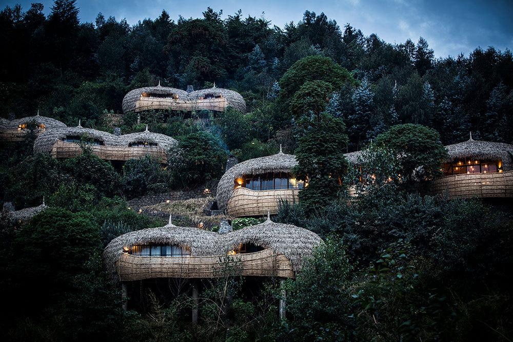 The villas at Bisate Lodge in Ruhengeri, Rwanda
