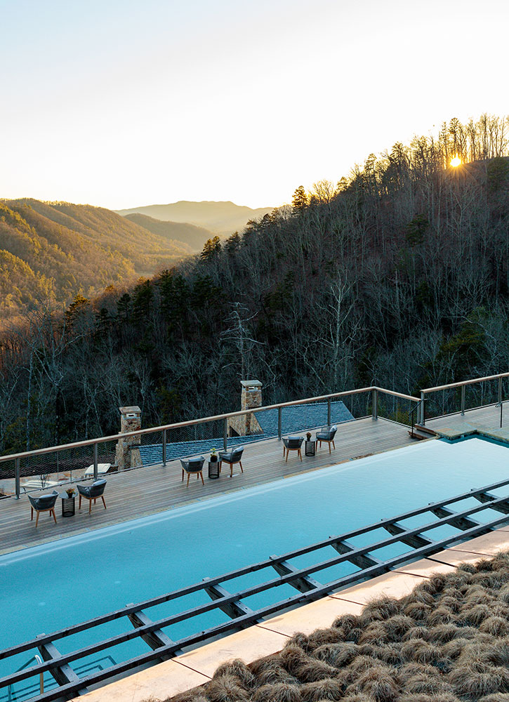 The pool at Blackberry Mountain