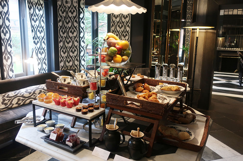 The breakfast buffet at The Franklin