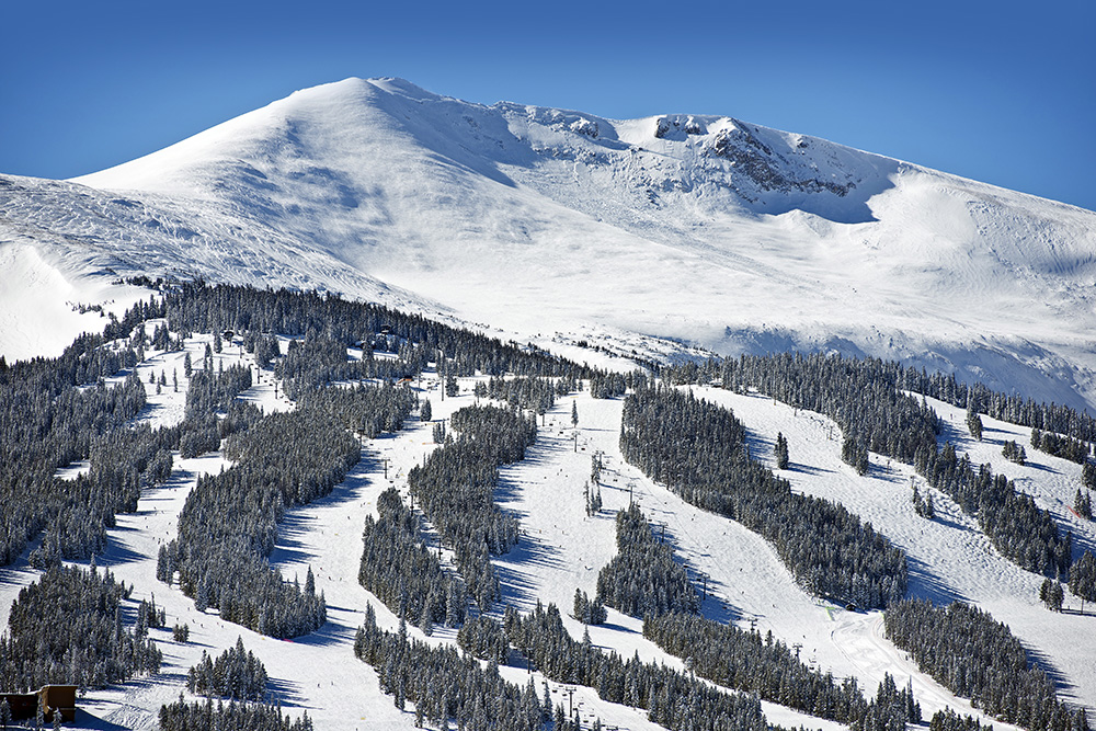 Ski runs at Breckenridge, Colorado