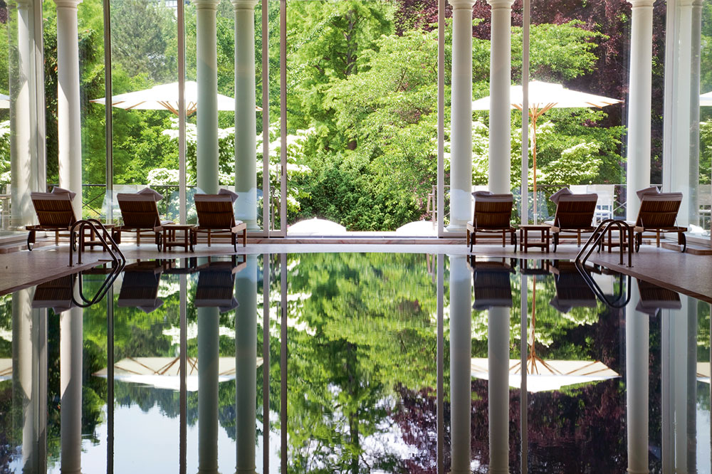 Spa pool at Brenners Park Hotel & Spa in Baden Baden, Germany