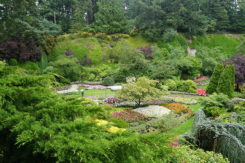The Sunken Garden at Butchart Gardens in Brentwood Bay