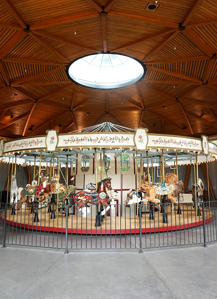 The carousel at Butchart Gardens