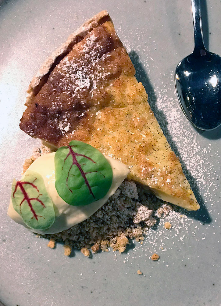Buttermilk pie at Sovereign Remedies