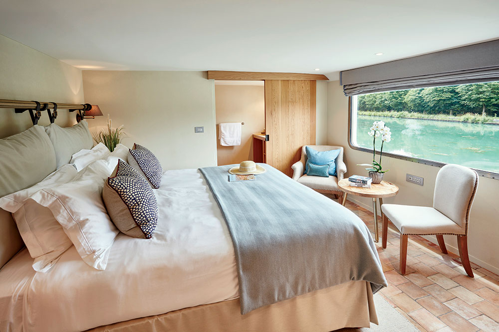 A cabin of the <em>Belmond Pivoine</em>