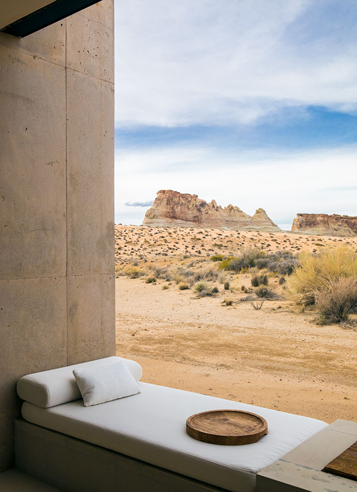 The patio of our Desert View Suite at Amangiri