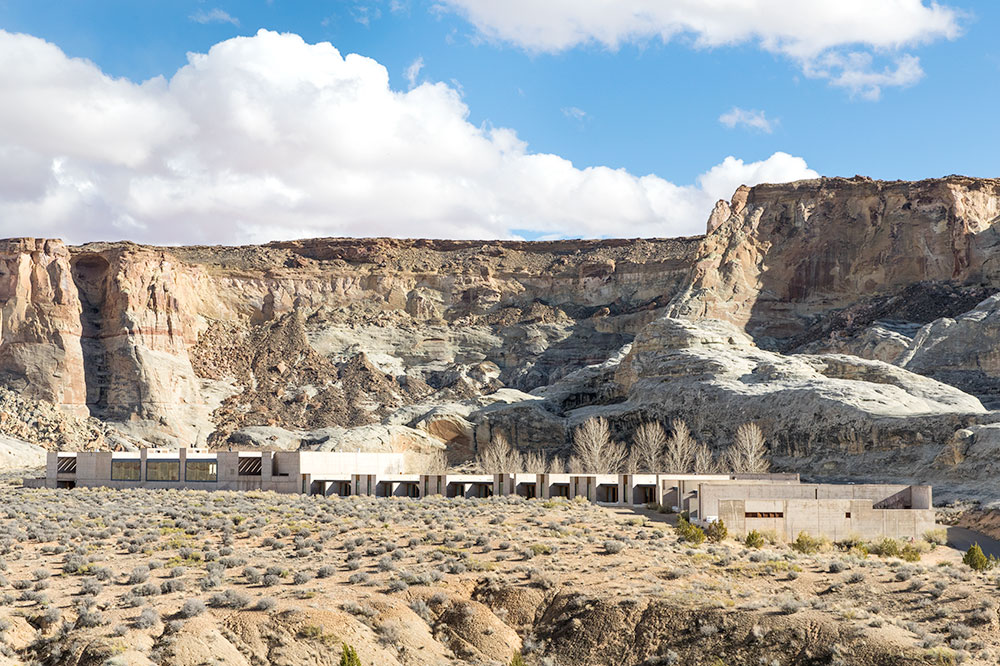 The view of Amangiri from our hike in Canyon Point