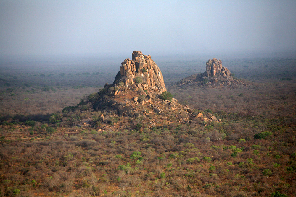 Rock formations at Zakouma National Park in Chad