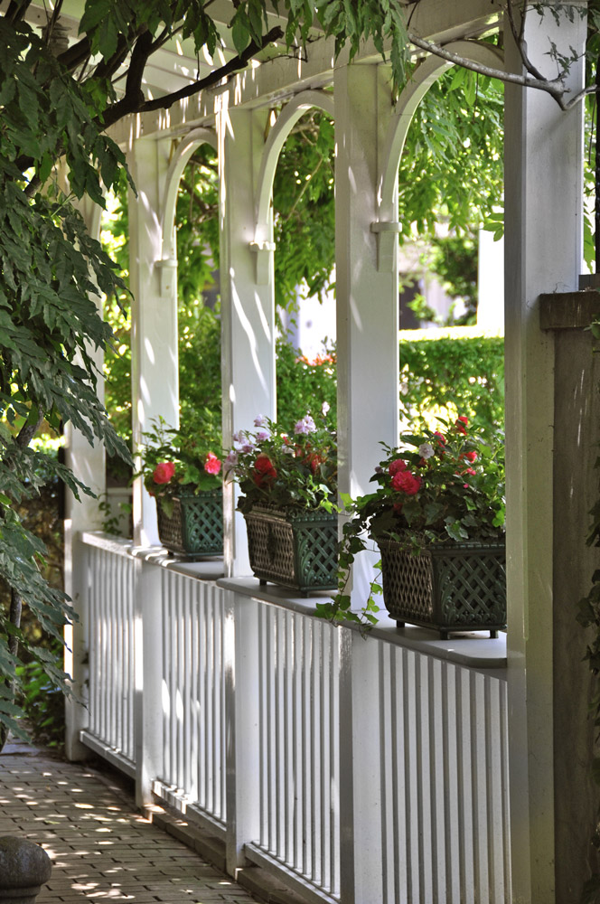 Nineteen rooms at the Charlotte Inn include private patios and charming gardens