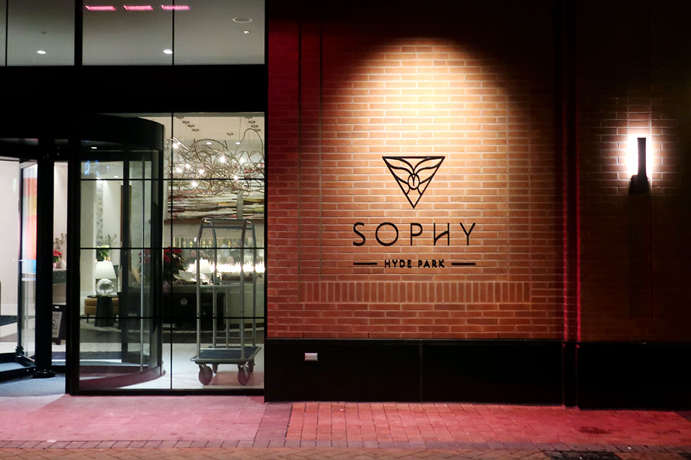 The entrance to Sophy Hyde Park
