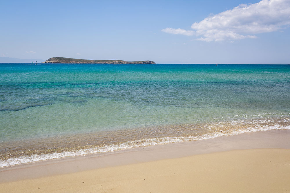 Chryssi Akti (Golden Beach) in Drios, Paros