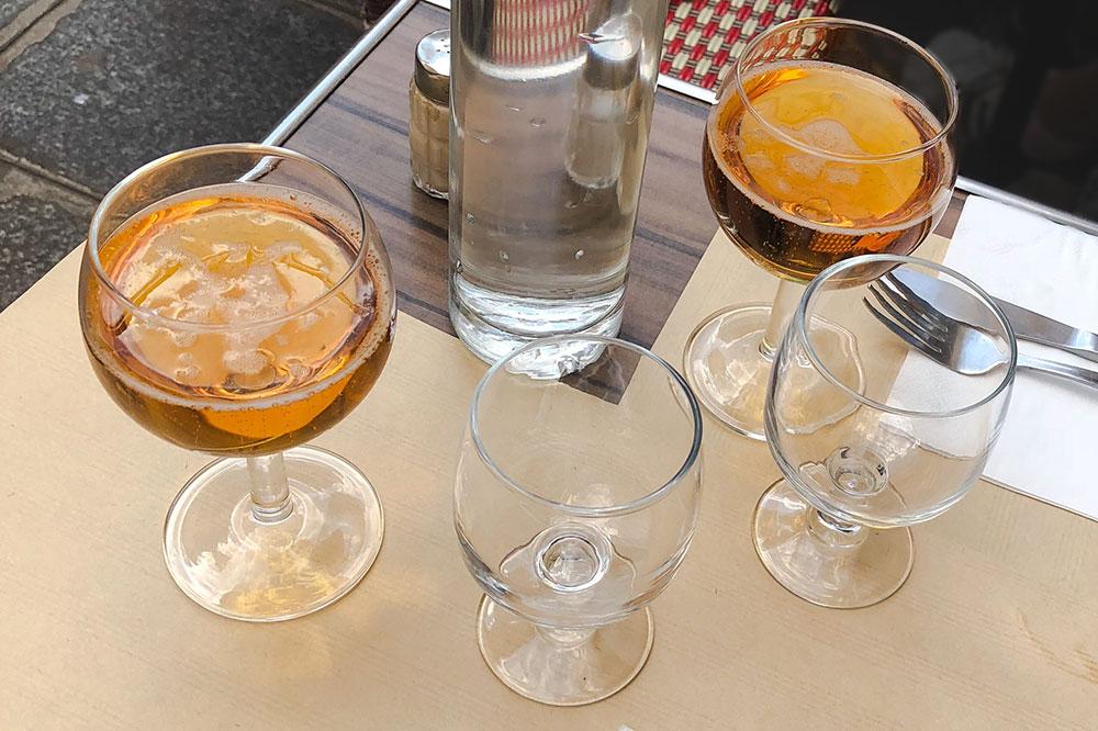 Cider at Crêperie Suzette