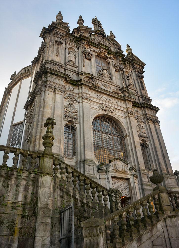The Clérigos church and tower in Porto
