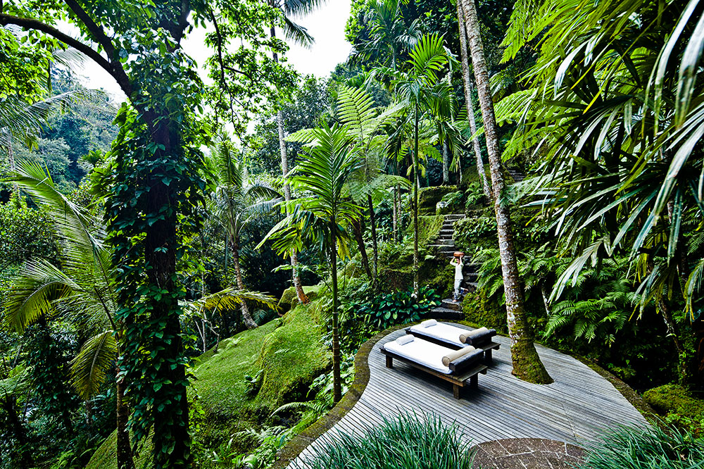 Water garden at Como Shambhala Estate in Bali, Indonesia