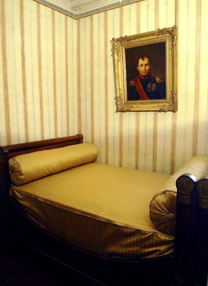 Napoleon's former bed in the Maison Bonaparte in Ajaccio