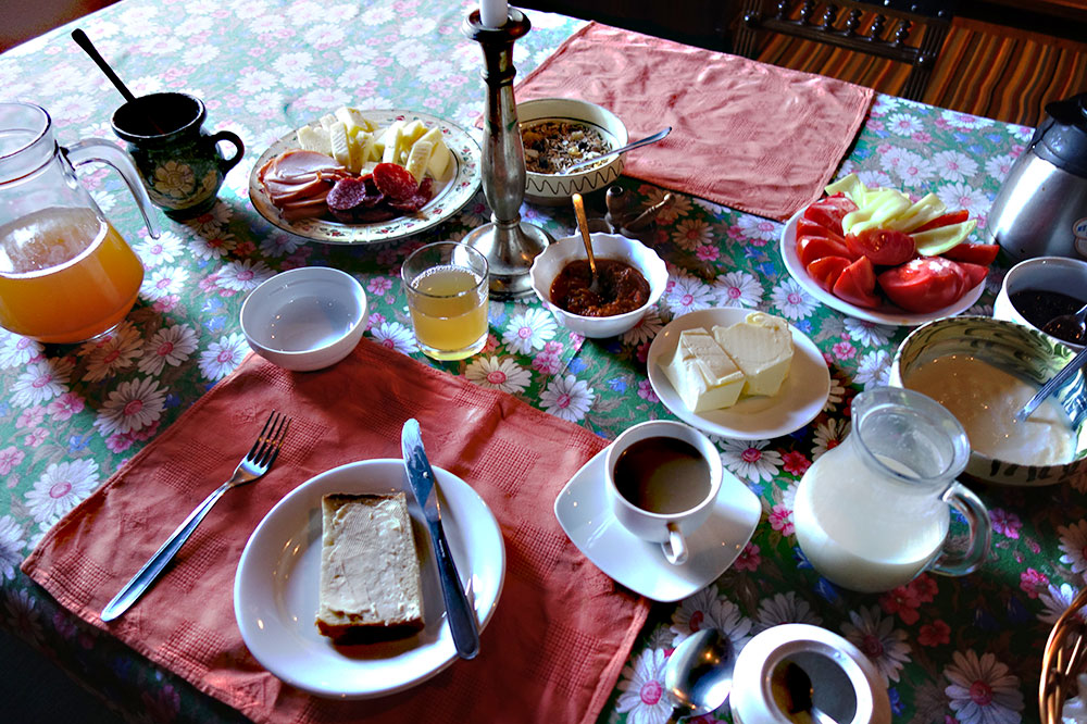 Breakfast at Count Kálnoky's Transylvanian Guesthouses