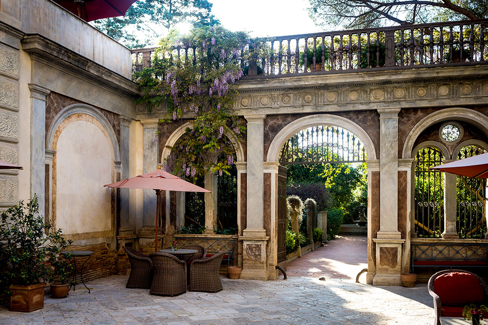 The courtyard at Palazzo Margherita
