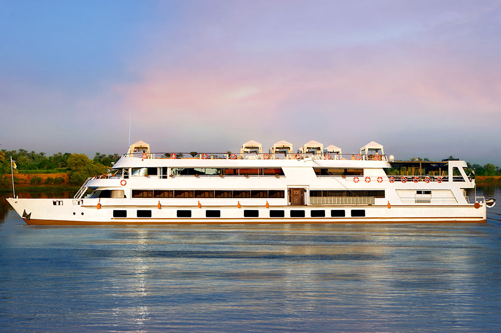 <i>Sanctuary Sun Boat III</i> on the Nile River in Egypt