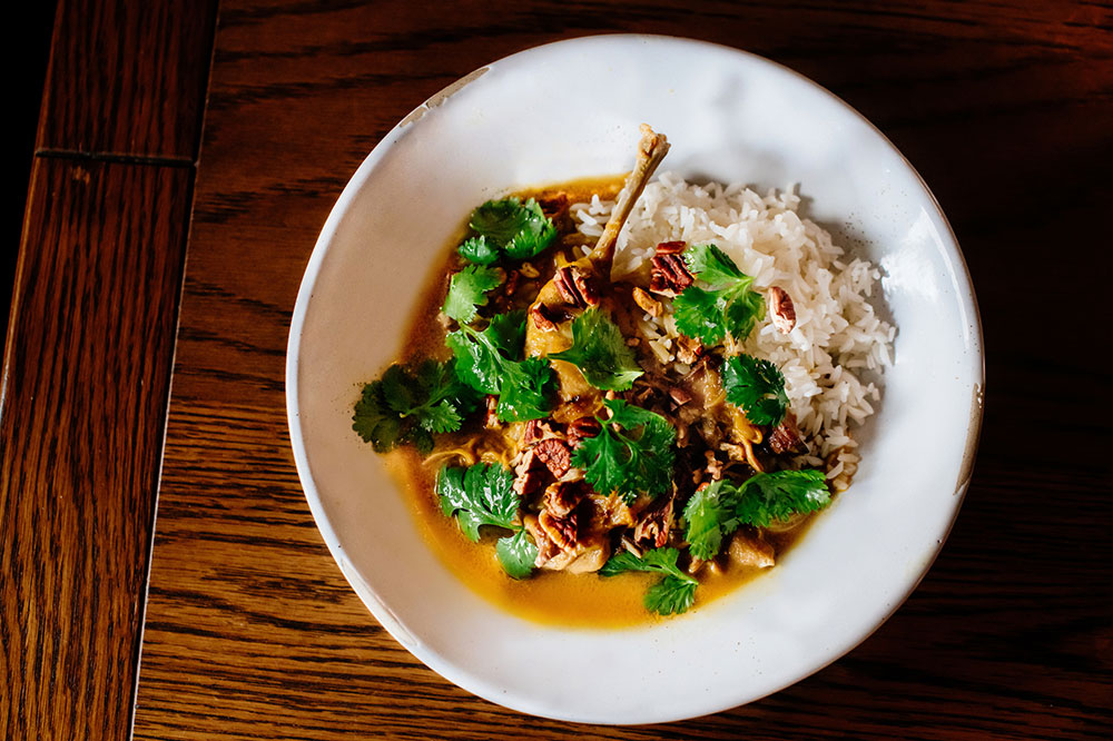 Curried rabbit from Bywater American Bistro