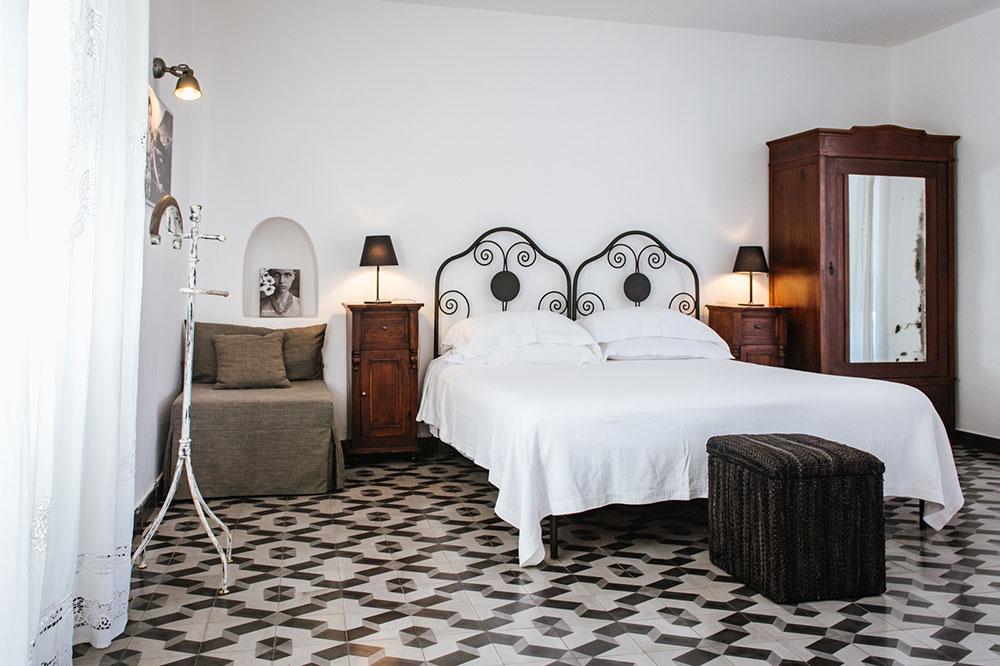 Deluxe room at Hotel Signum on the island or Salina, Italy