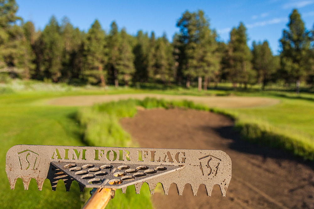 Bunker rake at Silvies Valley Ranch golf course