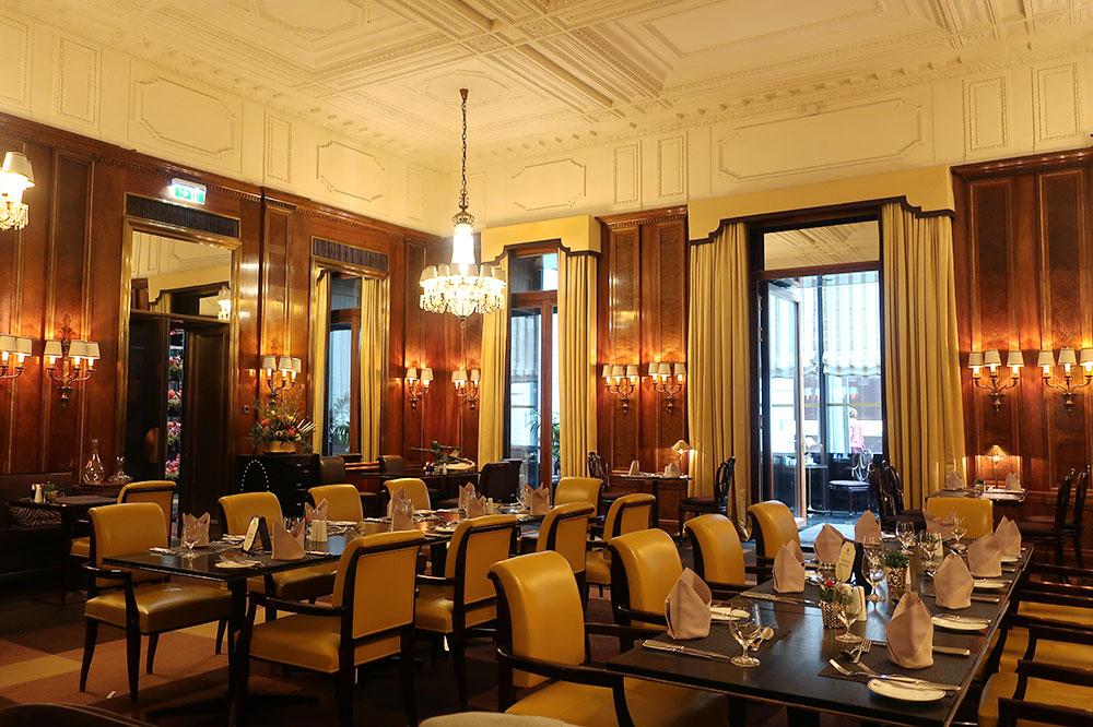 The dining room at Hotel Bristol