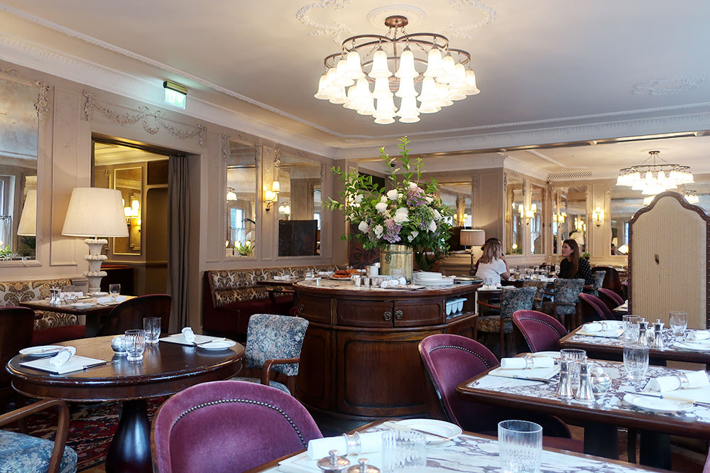 The dining room during breakfast at Kettner's Townhouse