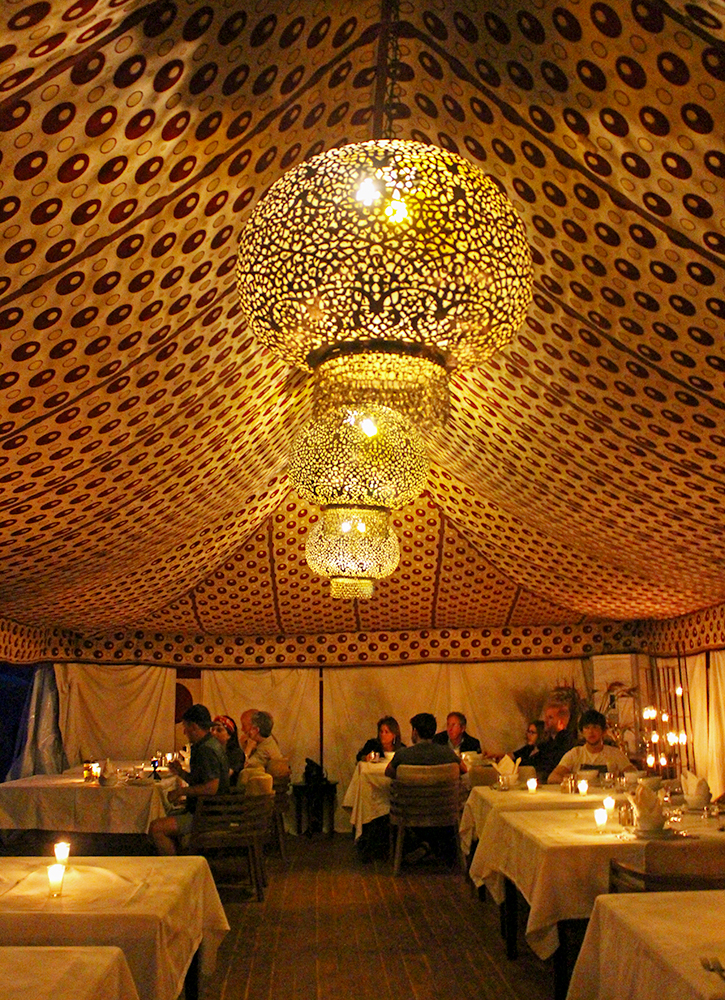Dining tent at Erg Chebbi Luxury Desert Camp