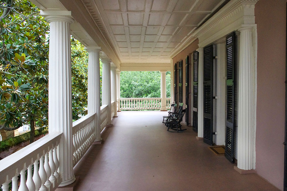 The porch of the Edmondston-Alston House in Charleston