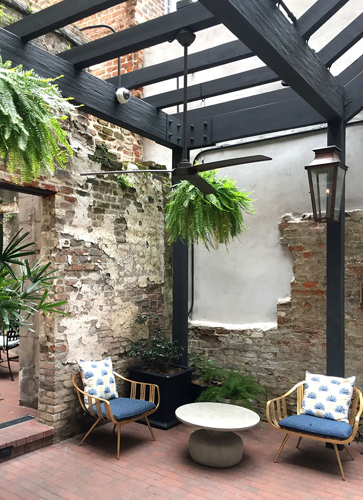 The open-air courtyard at The Eliza Jane