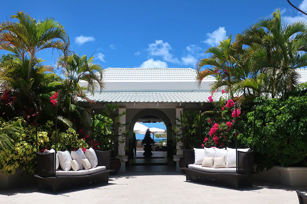 The entrance to Spice Island Beach Resort in St. George's