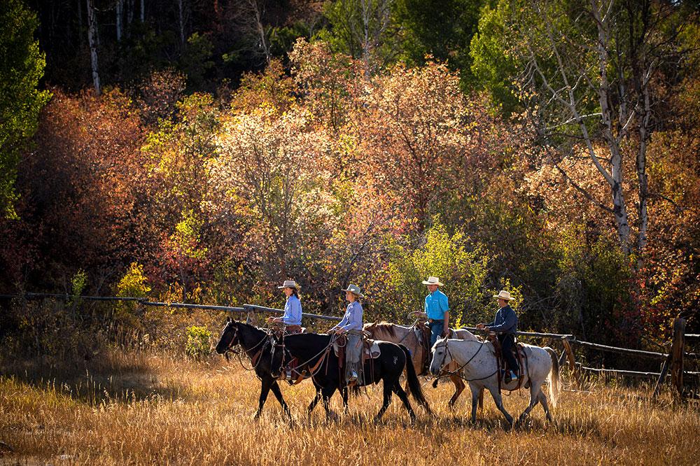 Horseback riding at The Lodge at Blue Sky