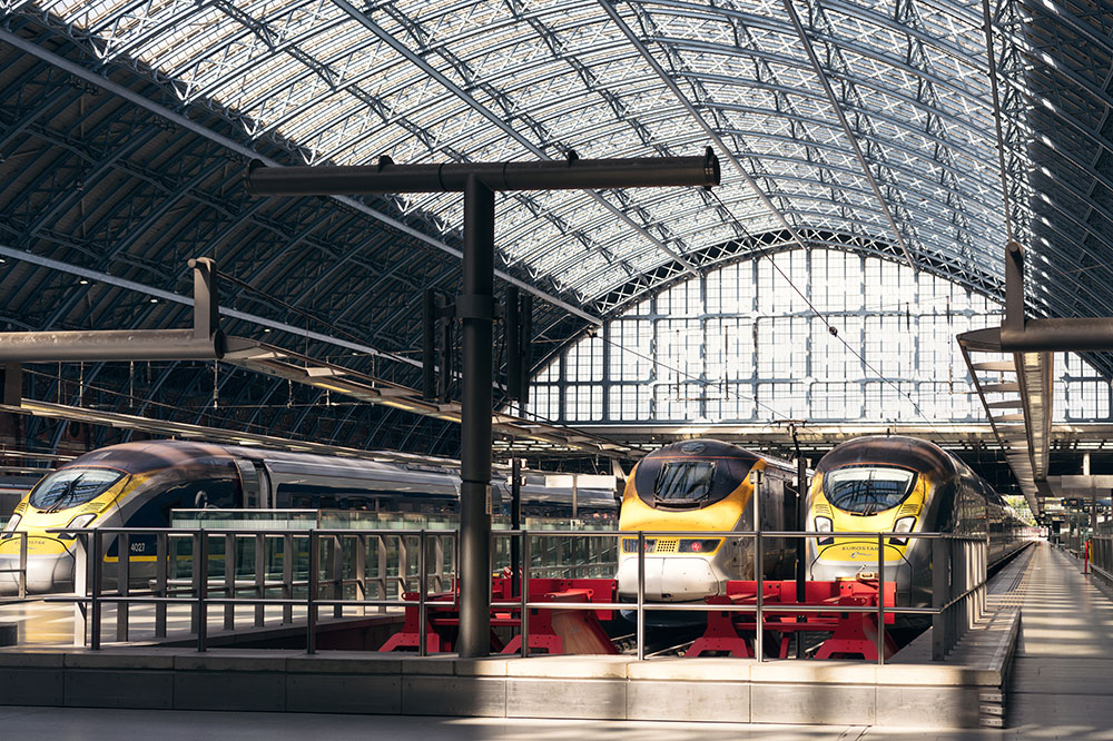 The waiting platform for Eurostar at St. Pancras station in North London