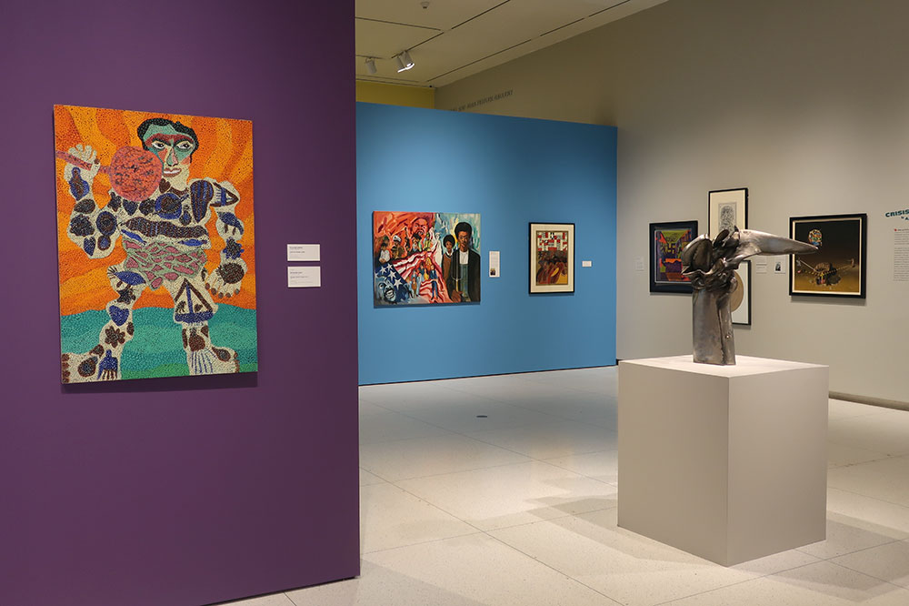 An exhibition of South Side works created between 1960 and 1980 at the Smart Museum of Art