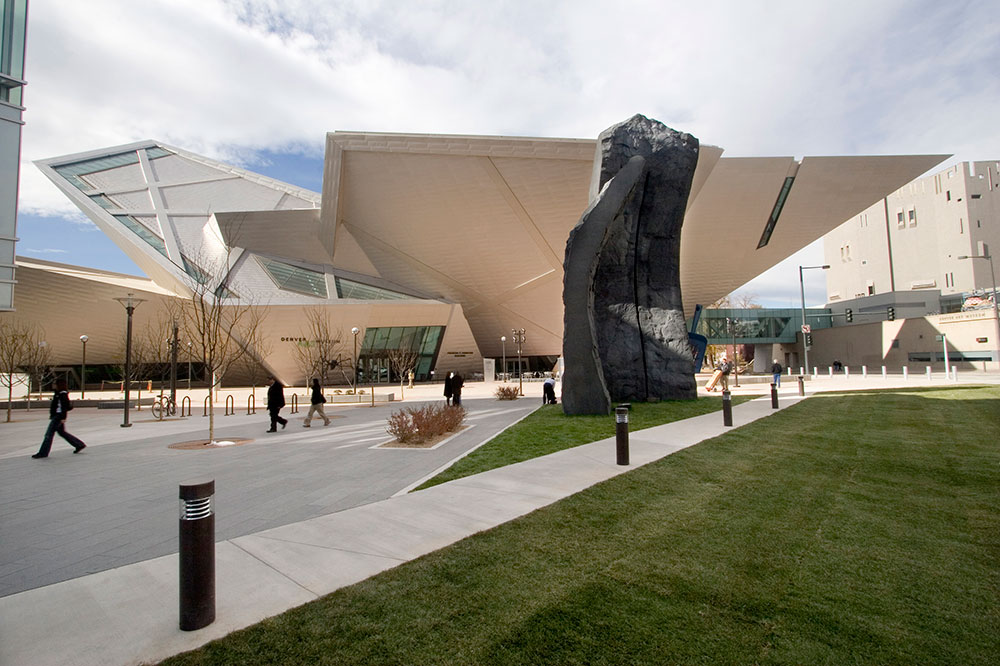 The Denver Art Museum's Frederic C. Building, designed by Daniel Libeskind