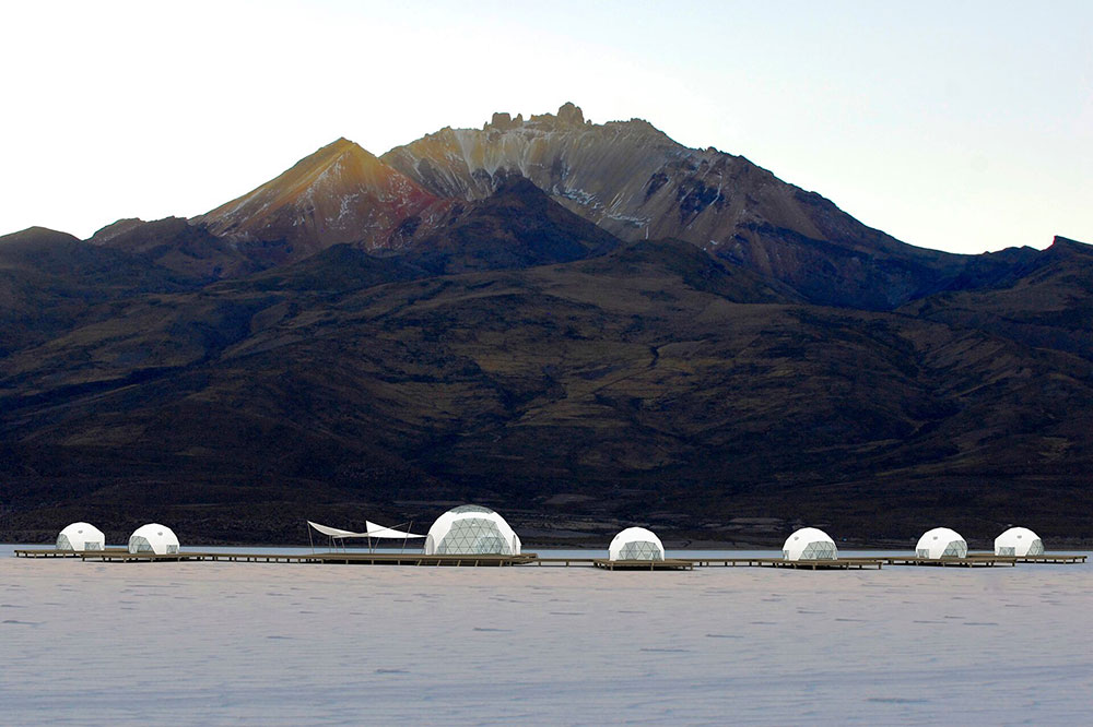 The geodesic domes of Kachi Lodge