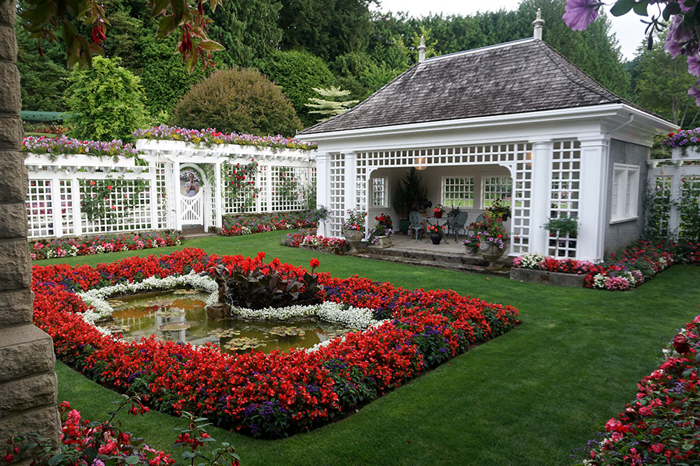 The family's private garden at Butchart Gardens