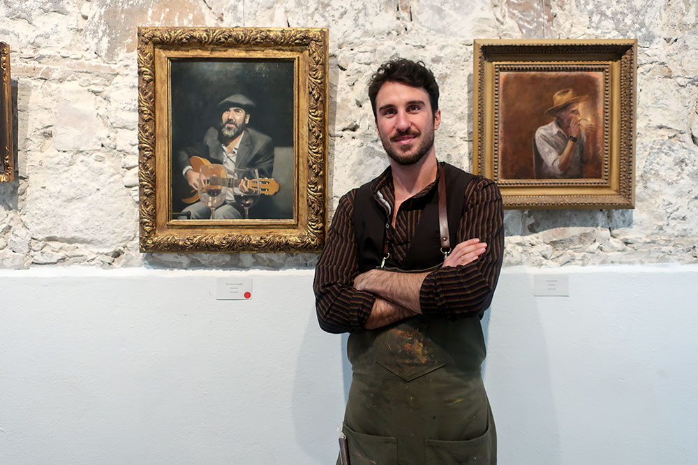Italian artist Filippo Giusti in his gallery at Fábrica La Aurora in San Miguel de Allende