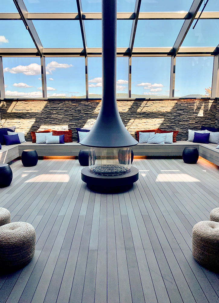 Spa lounge at Miraval Berkshires