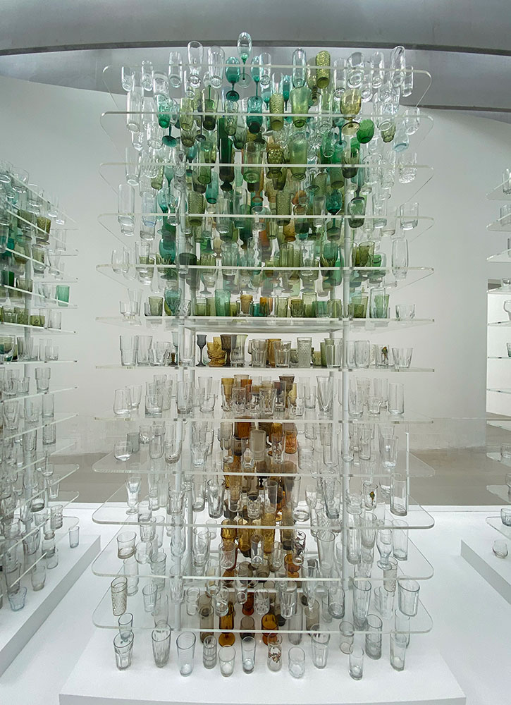 Forest glass, by Katherine Gray, at the Corning Museum of Glass