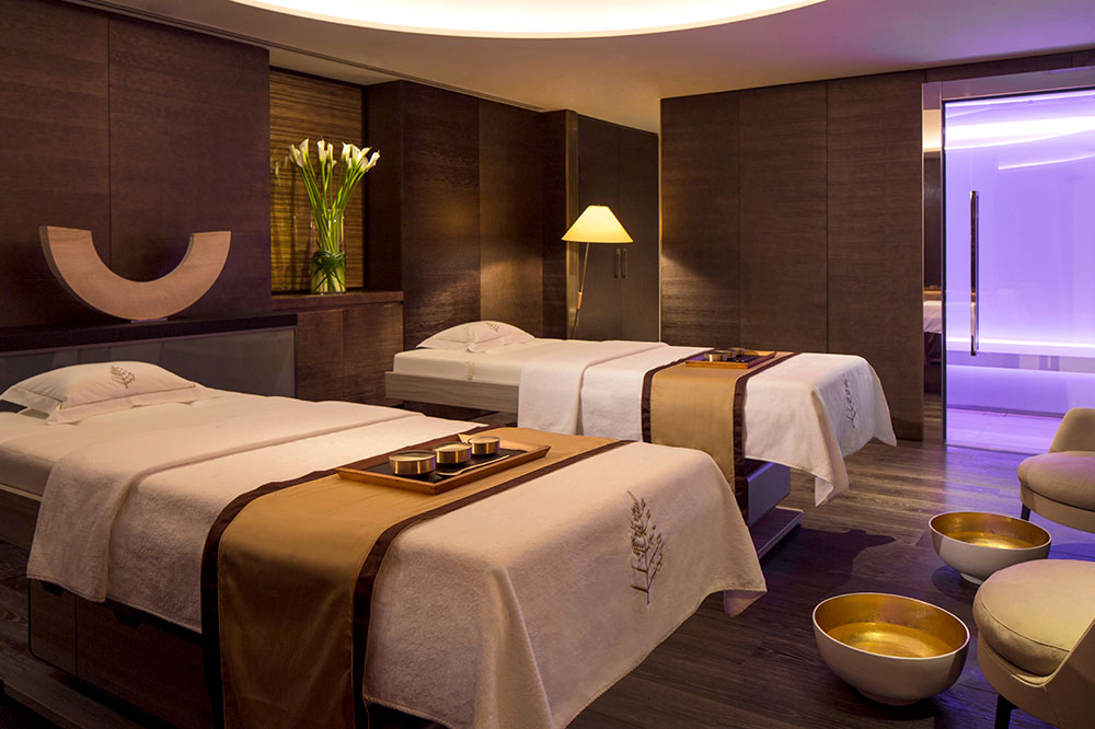 A treatment room of the spa at the Four Seasons Hotel London at Ten Trinity Square