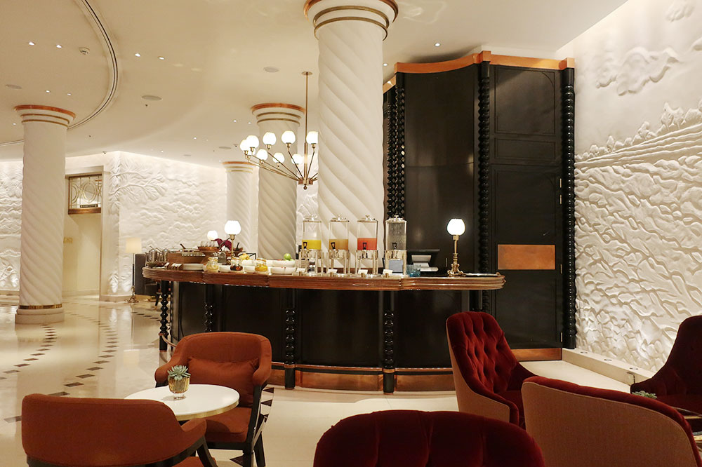The breakfast bar at the Four Seasons Hotel London at Ten Trinity Square