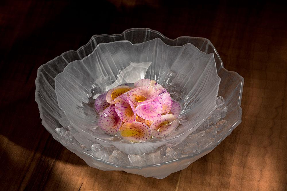 Bluefin tuna, purple radish, myoga, horseradish and salted tomato vinaigrette from Frantzén