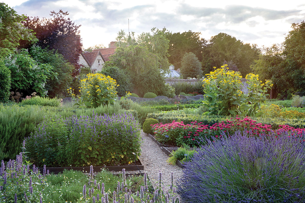 The garden at Belmond Le Manoir aux Quat'Saisons
