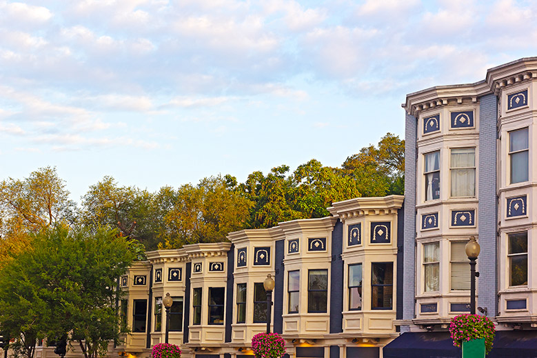 Residential row houses in Georgetown